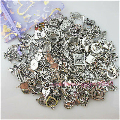 200Pcs New Mixed Lots of Tibetan Silver Tone Charms Wholesale Pendants