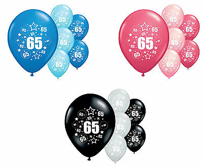 "8 X 65Th Birthday Balloons 12"" Helium Quality Party Decorations (Pa)"
