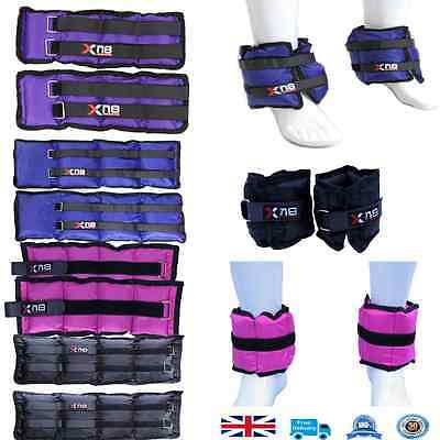 Ankle Weights Velcro Adjustable Leg Wrist Strap Running Gym Training Exercise
