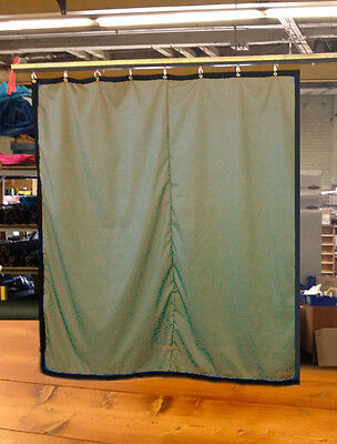 Tan Curtain/Stage Backdrop/Partition, Non-FR, 10 H x 10 W