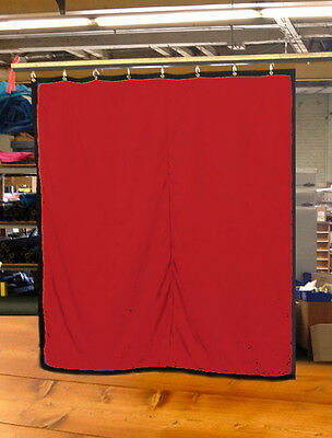 Red Curtain/Stage Backdrop/Partition, Non-FR, 10 H x 10 W
