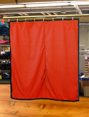 Mandarin Orange Curtain/Stage Backdrop/Partition, Non-FR, 10 H x 10 W