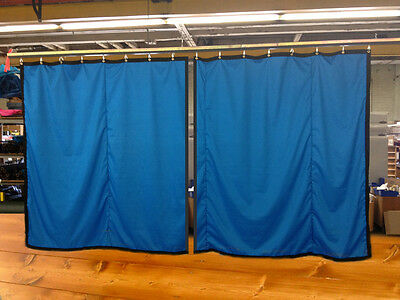 Lot of (2) Royal Blue Curtain/Stage Backdrop, Non-FR, 10 H x 10 W