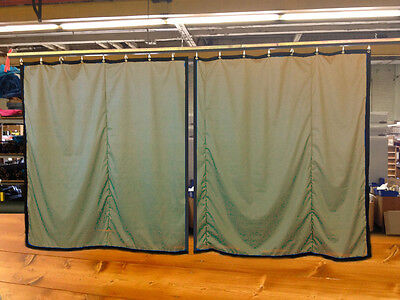 Lot of (2) Tan Curtain/Stage Backdrop, Non-FR, 10 H x 10 W