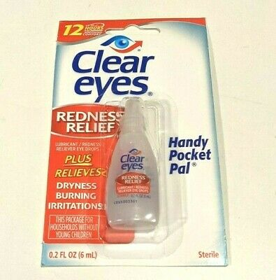 Clear Eyes Redness Relief Eye Drops 0.2oz, 6 Packs