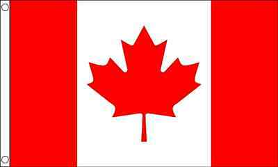 3ft x 2ft (90 x 60cm) Canada Canadian Polyester Material Banner Flag