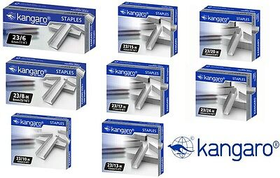 Kangaro Heavy Duty Stapler Staples 23/6,23/8,23/10,23/13,23/15,23/17,23/2023/24
