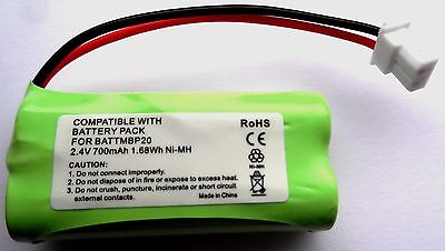 Motorola Mbp161 Timer Audio Baby Monitor  Compatible Rechargeable Battery 2.4V