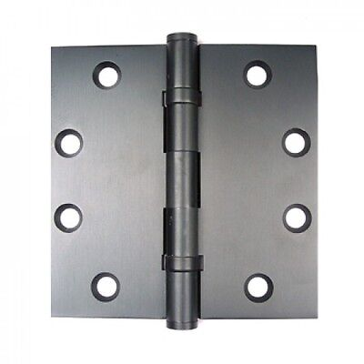 Bolton 4.5 Inch Square Corners Solid Brass Hinges DARK BRONZE Finish