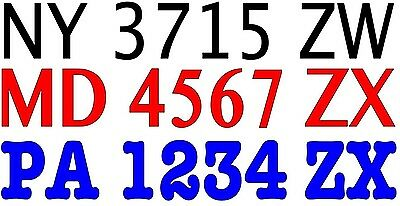 "Boat Registration Numbers Vinyl Decal Lettering (2) 3""H X 20""W"
