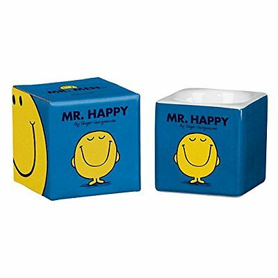 Mr Men and Little Miss 6 x 5.7 x 5.7 cm Mr Happy Egg Cup, Cerulean
