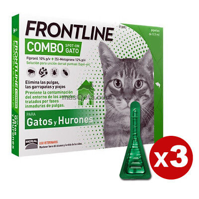 Frontline Combo Spot-On (Chats Et Furets) - Antiparasite - 3 Pipettes