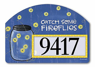 Summer Fireflies Magnetic Yard DeSigns Insert Lightening Bugs Address Marker