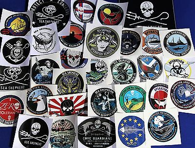 Sea Shepherd Stickers Logo's £2.50 each Jolly roger campaigns