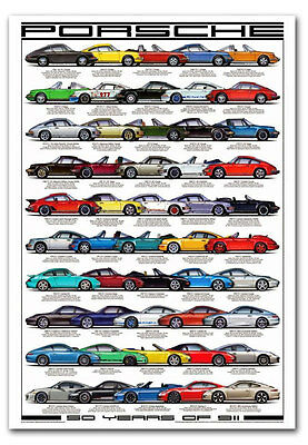"""50 Years Of Porsche 911 Fridge Magnet Collectible Size 2.5""""x 3.5"""""""