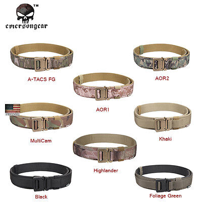 EMERSON 1.5'' Hard Tactical Belt Airsoft Duty Belt Camo Paintball Military Army