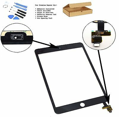 Replacement For iPad Mini 3 Touch Screen Digitizer Front GLASS With IC black