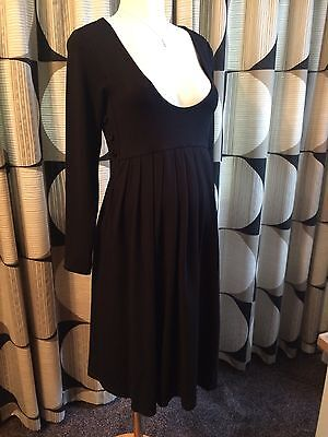(M03) maternity nursing dress black jersey size 14/16 breast feeding RRP £65