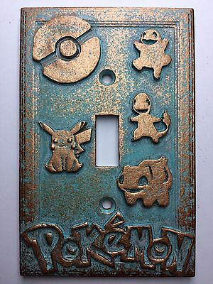 Pokemon Light Switch Cover - Aged Copper/Patina or Stone