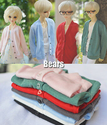 New Hot 1/4 MSD LUTS KID DOC BJD Clothes 5 Color All-match Knitting Cardigan