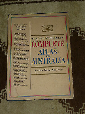 Readers Digest Complete Atlas of AUSTRALIA inc Papua New Guinea Map 1st Ed HB DJ