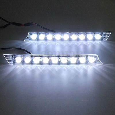 2X LED Daytime Running DRL Day Fog head Light For Audi Style Bright White 0.5W