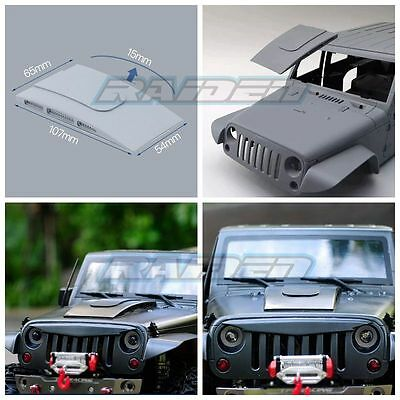 1/10 Scale Body Accessorie Jeep Wrangler Rubicon Sahara Engine Air Intake Cover