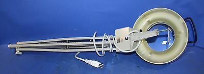 """(2) Used Lighted 5"""" Magnifying Glass With Arm Pin Joint Movement"""