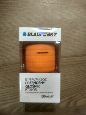 Blaupunkt BT01OR Bluetooth Tragbarer Lautsprecher Tragbar Radio FM MP3 Orange
