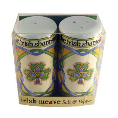 Irish Weave Style Salt & Pepper Set