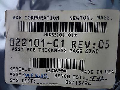 ADE Technologies 022101-01 PCB Thickness Gage 6360