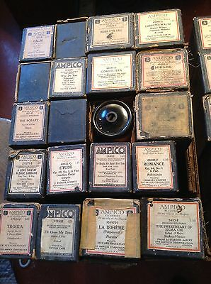 Very Large Lot (79) Circa 1920's Ampico Reproducing Player Piano Rolls Project
