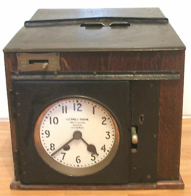 Empire Gledhill - Brook Time Recorders Portable Platform Movement Oak Case Clock • £350.00