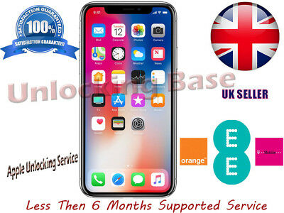 Orange / T-Mobile / Ee Uk Iphone X Unlocking Service For Less Than 6 Months