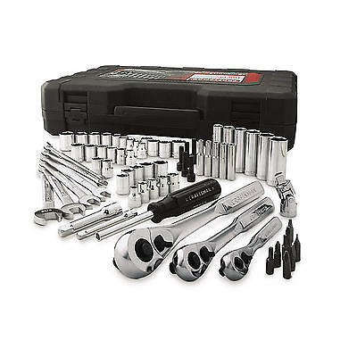 Craftsman 165 PC Mechanics Tool Set Wrenches Sockets Ratchet SAE Metric NEW