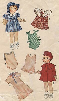 "1901 Vintage Chubby Doll Pattern - Size 18"" - Year 1930"