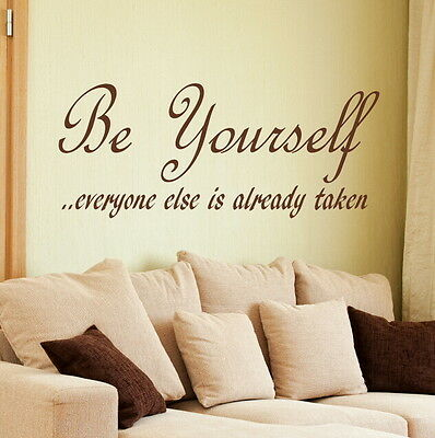 Be Yourself - Motivational Quote / Vinyl Decor / Inspirational Wall Quote DAQ13