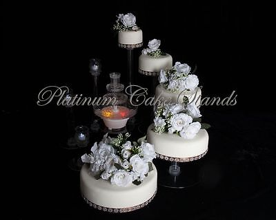 5 Tier Cascade Wedding Cake Stand With Fountain  (Style R503)
