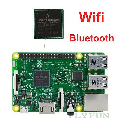 Raspberry Pi 3 Model B Board 1GB 64bit RAM Quad Core 1.2GHz  WiFi Bluetooth