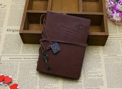 Vintage Magic Key String Retro Leather Note Book Diary Journal