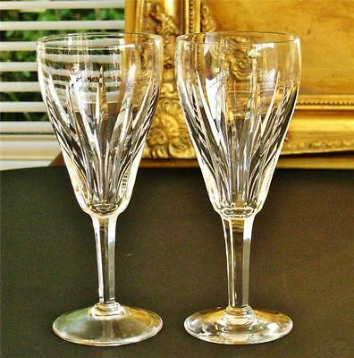 Fantastic pair of Vintage Stuart crystal CLARIDGE wine glasses.
