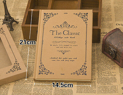 The Classic Retro Notebook Diary Journal Sketchbook