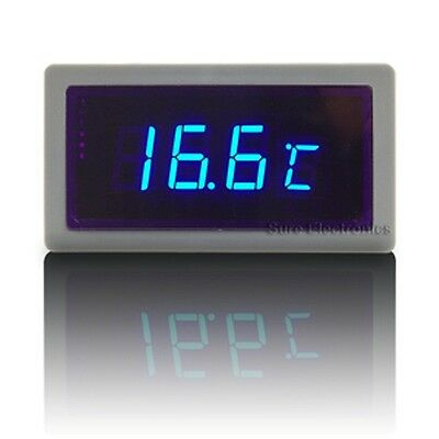 *FCB *USA Car/Truck Digital Thermometer, F and C, 12v Power Blue