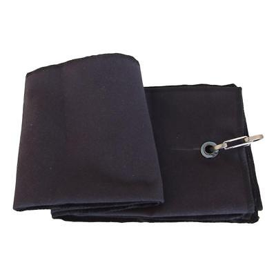 Microfiber Tri-Fold Fleece Golf Towel 40*65cm Black