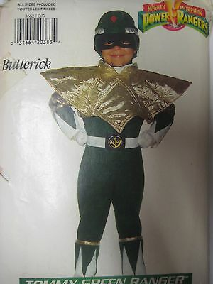 Vintage Butterick 3662 TOMMY-GREEN POWER RANGERS Sewing Pattern All Sizes Child