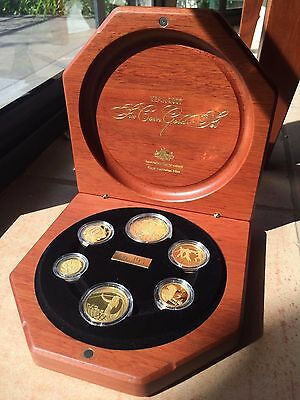 2007 6-coin 24ct Gold Bullion (3.651t oz) RAM Proof set in case,no.195 of 300