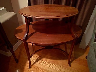 Antique Two Tier Mahogany Table Oval