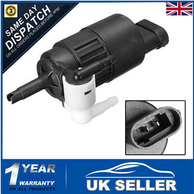 Windscreen Window Washer Dual Twin Outlet Pump for Renault Clio MKII Rear& Front