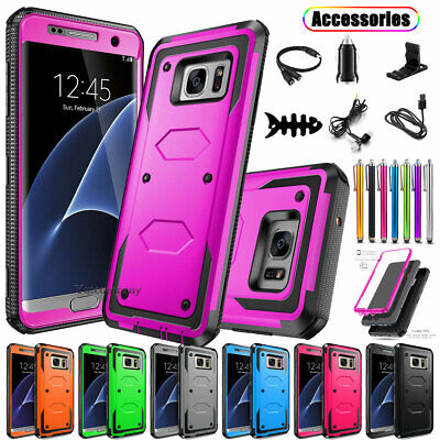 For Samsung Galaxy S7 Edge Hybrid ShockProof Rugged Protective Hard Case Cover
