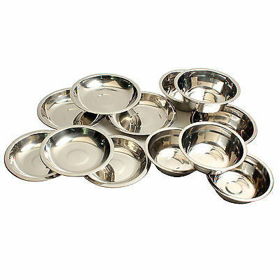 Camping Outdoor Cookware Bowl Set Stainless Steel 12PCS/Set